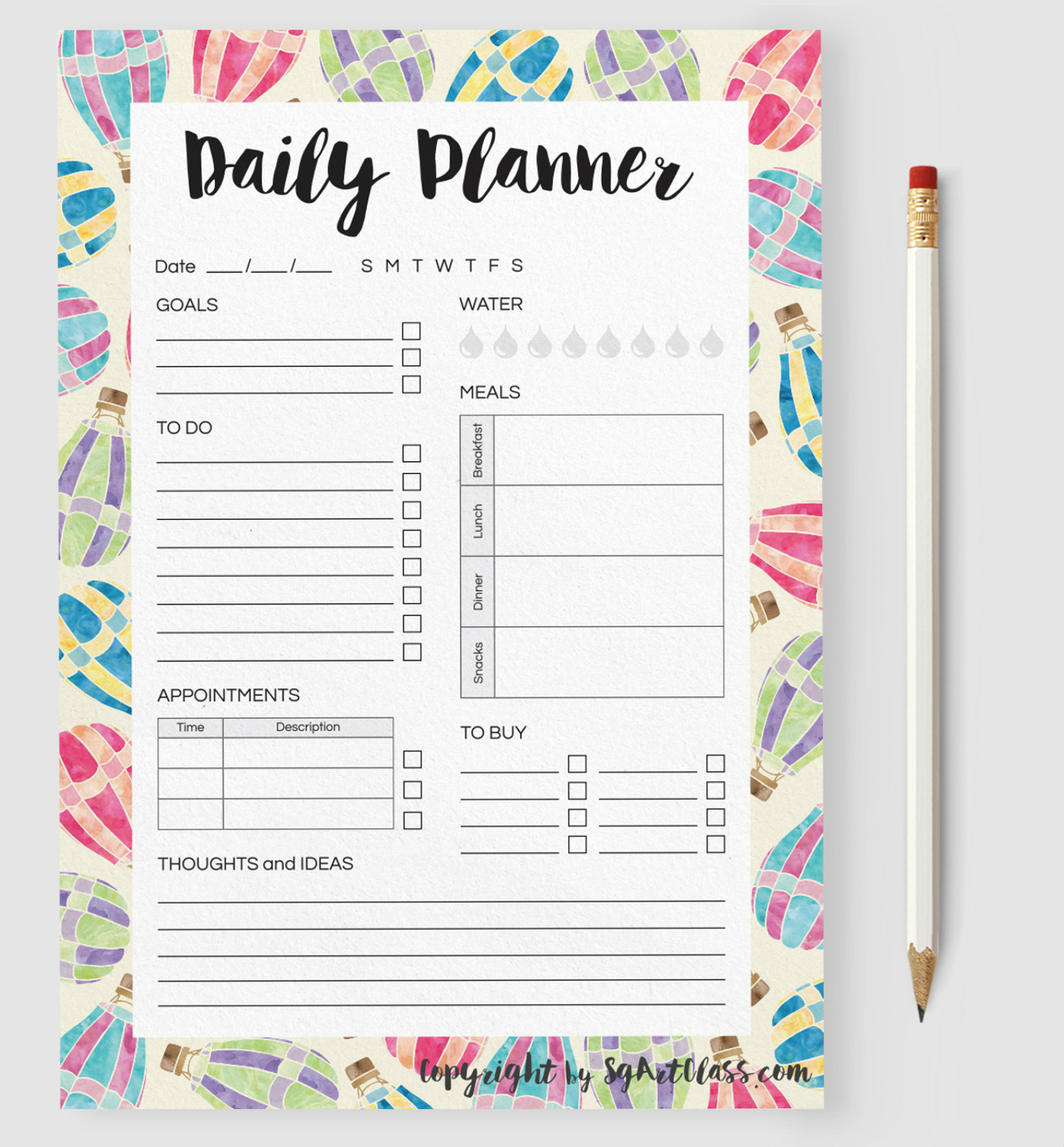 Stay organized with these printable planners / calendars.