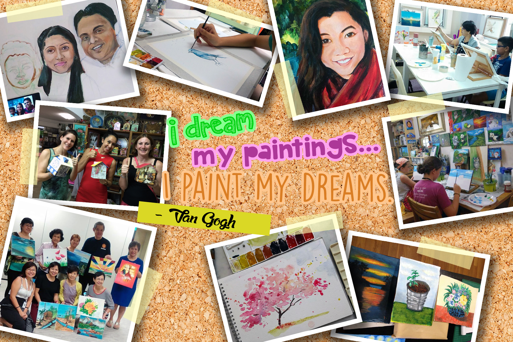 Painting Class / Course Near Me | Singapore Art Workshop