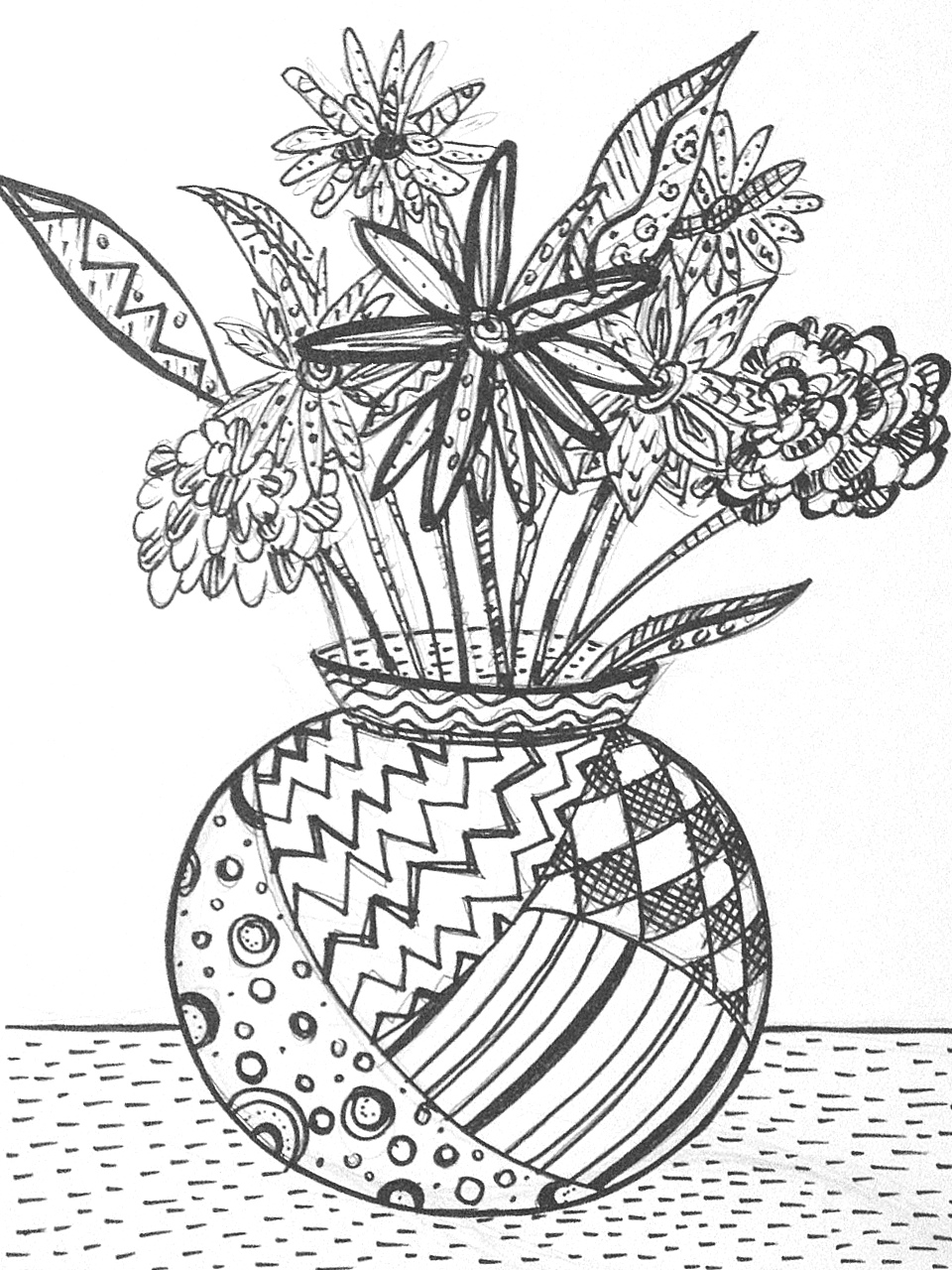 Line Drawing Flower Vase : Singapore art teachers sgartclass