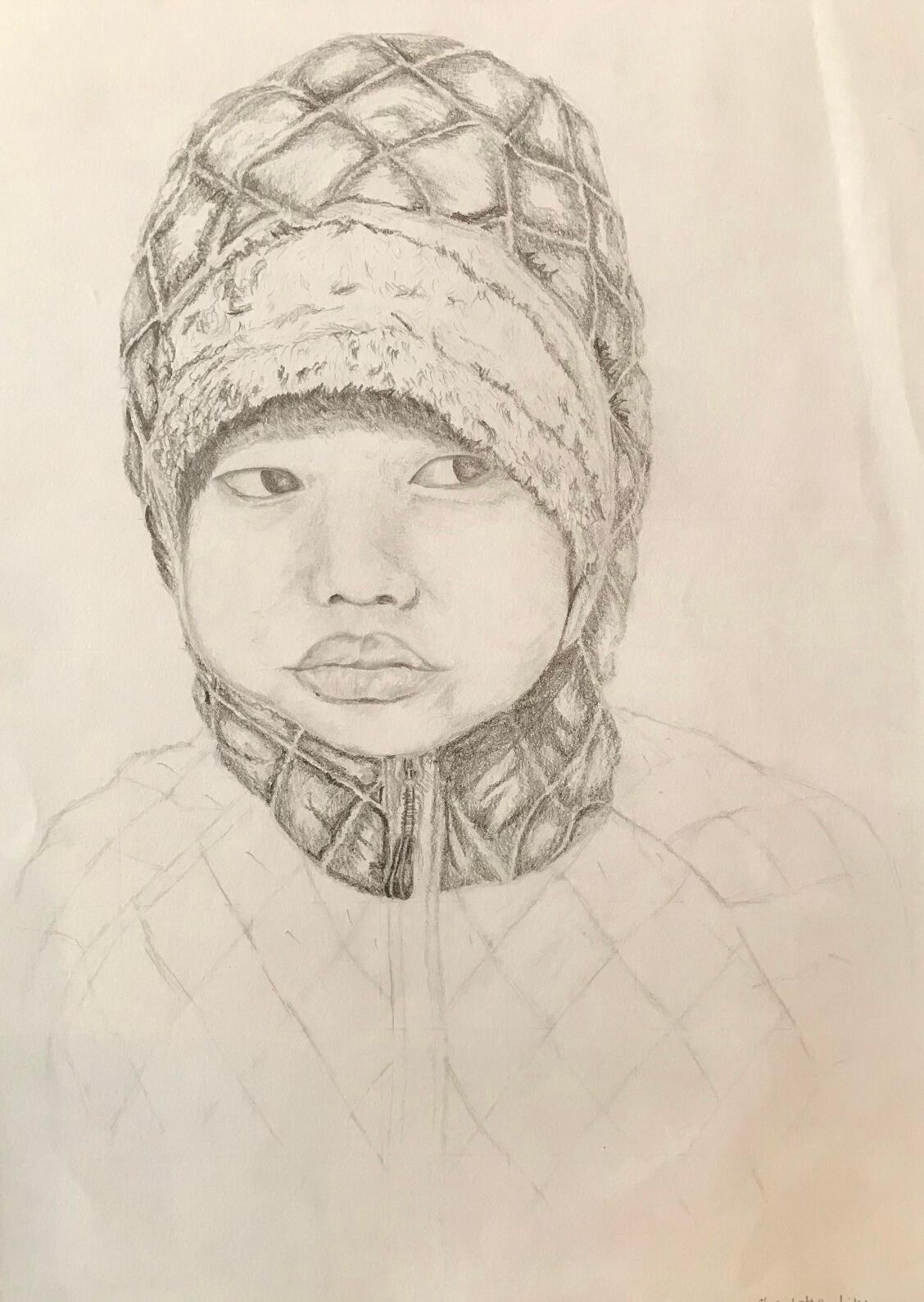 Pencil drawing portrait sketch class singapore