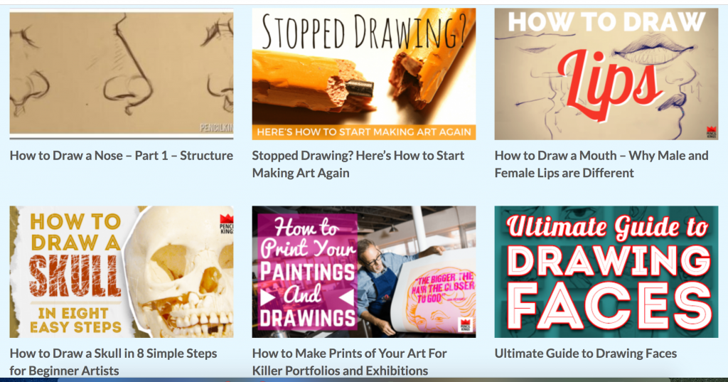 Learn Art through Lessons / Tutorials Online